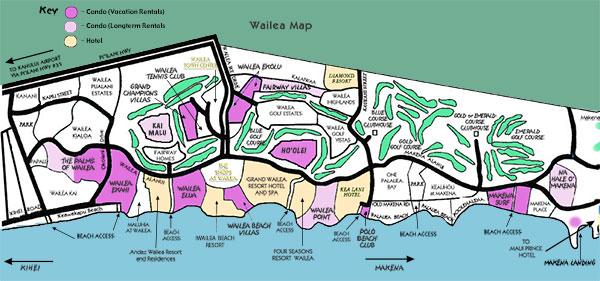 Wailea Resort Map